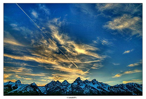 Sunset over the Tetons - HDR