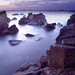 Guernsey rocks at sunset by sov