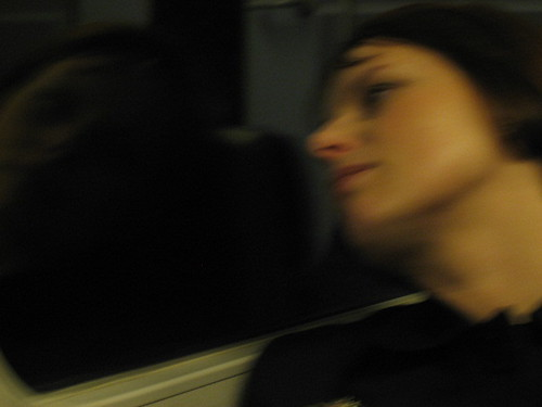 Miss Jones on the train