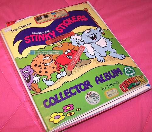 official stinky stickers album from the 80s