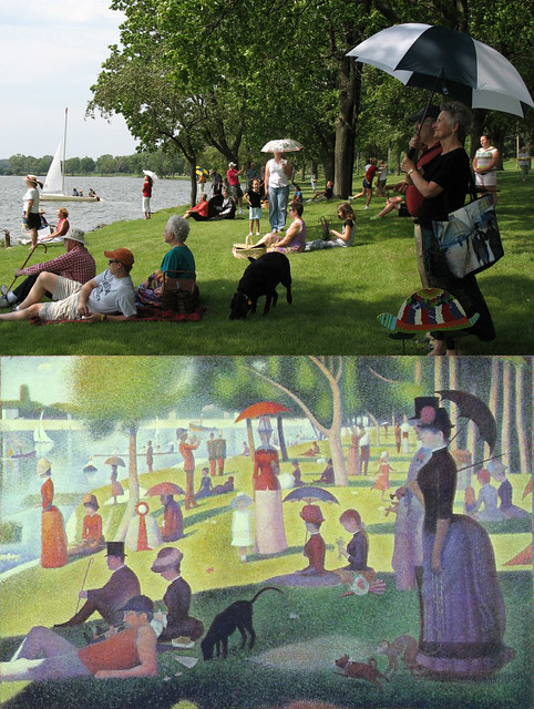 Saturday in the Park with Friends Painting Seurat on the Rock River
