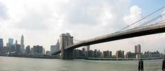 Brooklyn - Fulton Ferry: Fulton Ferry Landing - Brooklyn Bridge (panoramic)