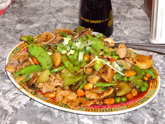 stew(0.0), curry(0.0), vegetarian food(0.0), produce(0.0), vegetable(1.0), kung pao chicken(1.0), food(1.0), dish(1.0), cuisine(1.0),