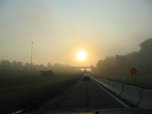 usa sunrise driving 2006 oh