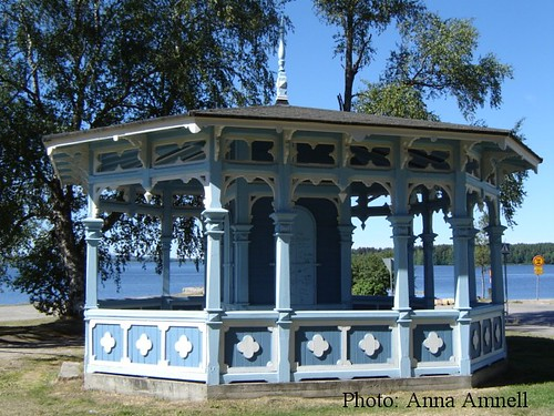 Finland: a gazebo/kiosk in a small town
