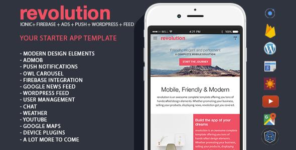 revolution v1.0 - complete Ionic app