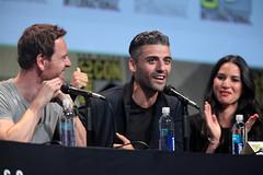 Michael Fassbender, Oscar Isaac & Olivia Munn