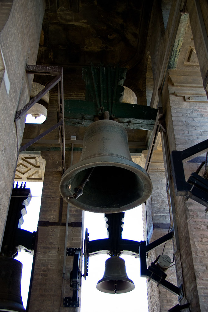 Church bells at top of Seville Cathedral