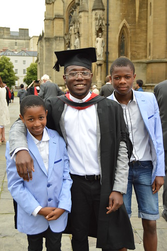 Abdulrahman Ayoola with his younger brothers