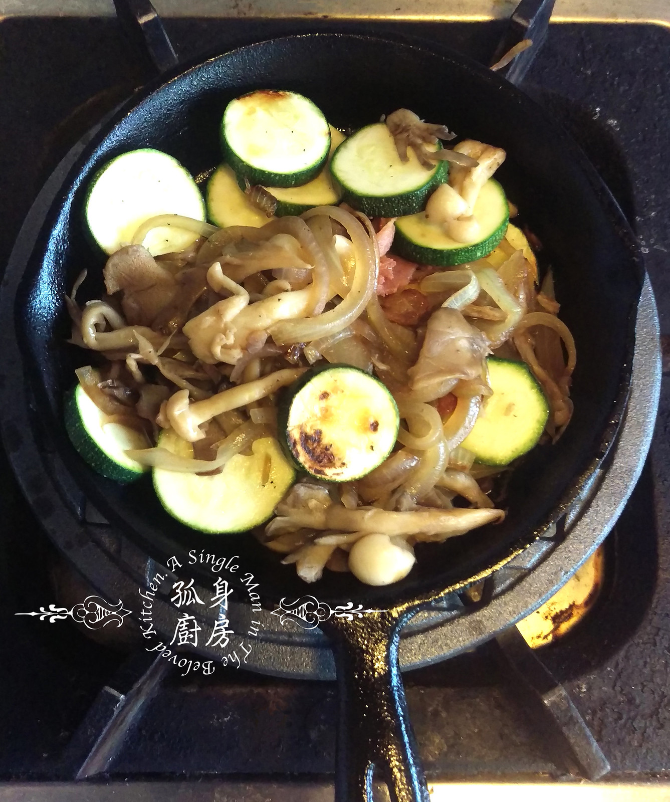 孤身廚房-清冰箱簡單早午餐!培根野菇櫛瓜義式烘蛋Frittata14