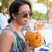Lauren sipping her coconut by bertrandom