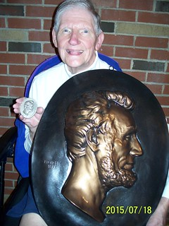Dick Johnson with Pickett Lincoln plaque