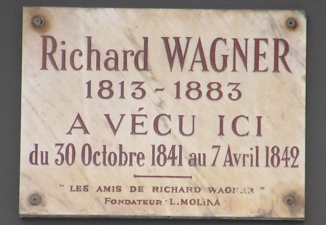 Photo of Richard Wagner marble plaque