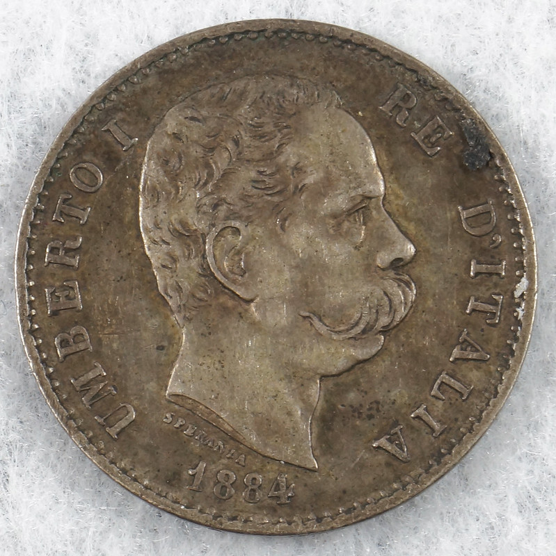RD3705 Italy Coin Umberto I Re D