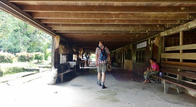 A Penan village longhouse