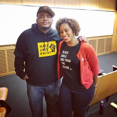Honored to hear this genius speak and to get a hug in person. Thank you for your work @KieseLaymon. :fire: (at Johns Hopkins University)