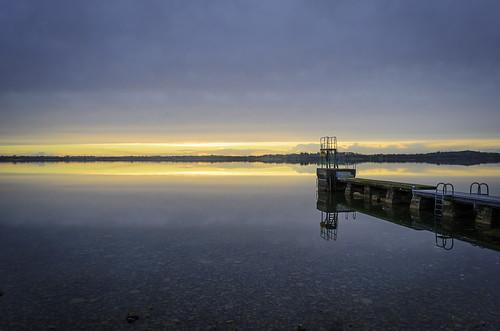 yellowsky loughowel mullingar sunset westmeath water island sky lake reflection landscape countywestmeath ireland ie