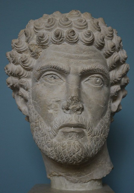 Limestone portrait of a Palmyrene notable, c. 210-230 AD,  Ny Carlsberg Glyptotek, Copenhagen