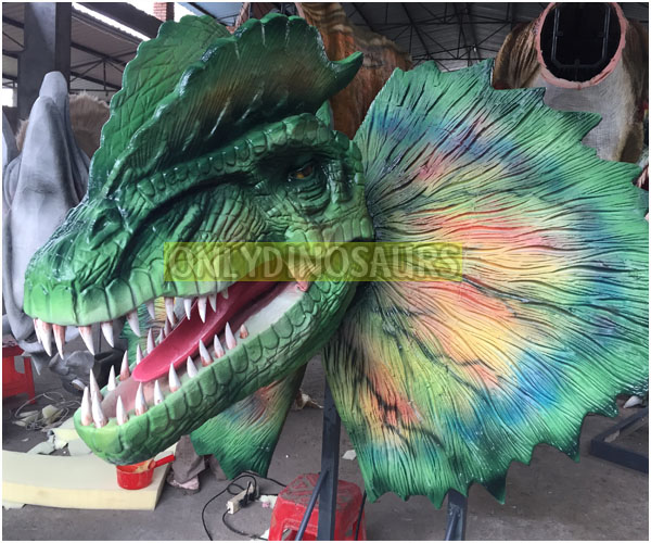 Animatronic Dilophosaurus Head