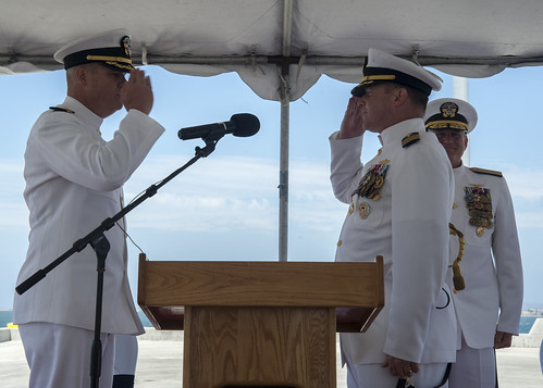 USS Princeton Holds Change of Command Ceremony in San Diego