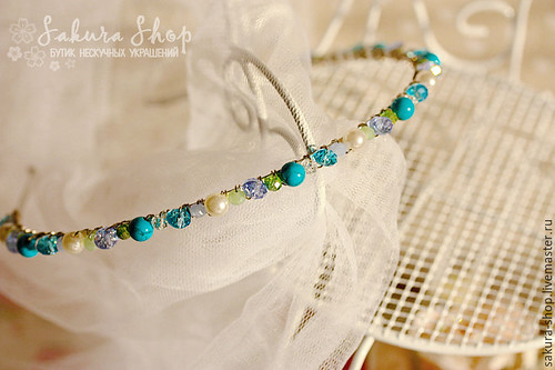 blue jade headband