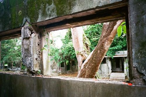 old slr abandoned film window 35mm island japanese islands ruins kodak decay main cell olympus jail weathered block 100 mp 135 northern commonwealth om1 decaying mariana saipan marianas ektar cnmi
