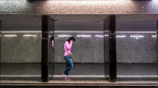 Pink - Warsaw, Poland - Color street photography