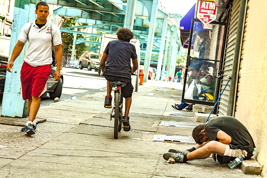 Man slumped on sidewalk on 5-25-15--Kensington