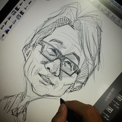 A great face to sketch.....Lim Swee Say