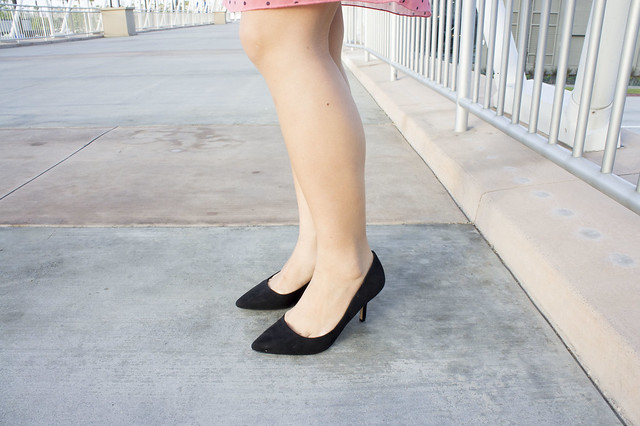 pointy black heels