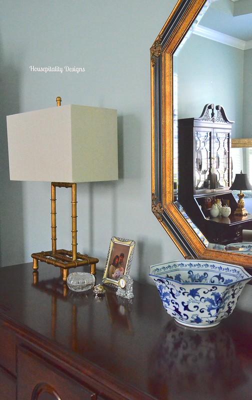 Gold Bamboo Lamp - Housepitality Designs