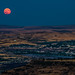 Blue moon over The Dalles and Dallesport by GeorgeOfTheGorge