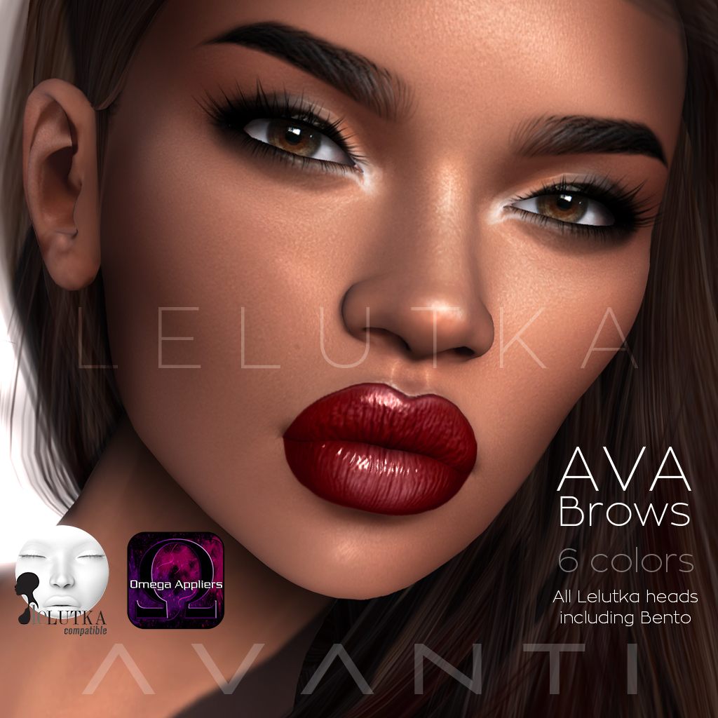 Avanti @ Cosmopolitan: Ava Brows (Lelutka & Omega) - SecondLifeHub.com