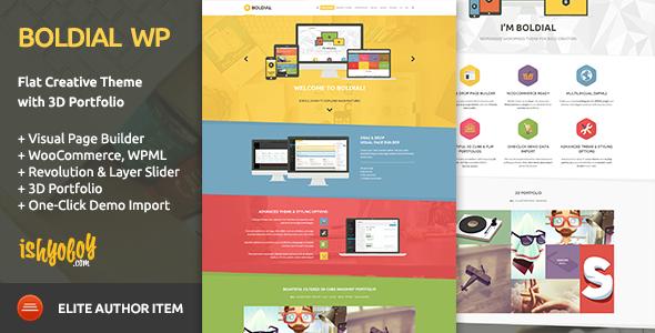 Boldial WP v2.5 - Flat Creative Theme with 3D Portfolio