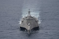USS Coronado (LCS 4) operates in the South China Sea, Feb. 1. (U.S. Navy/MC2 Amy M. Ressler)