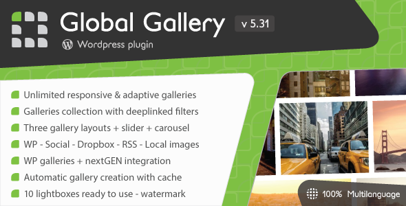 Global Gallery v5.502 – WordPress Responsive Gallery