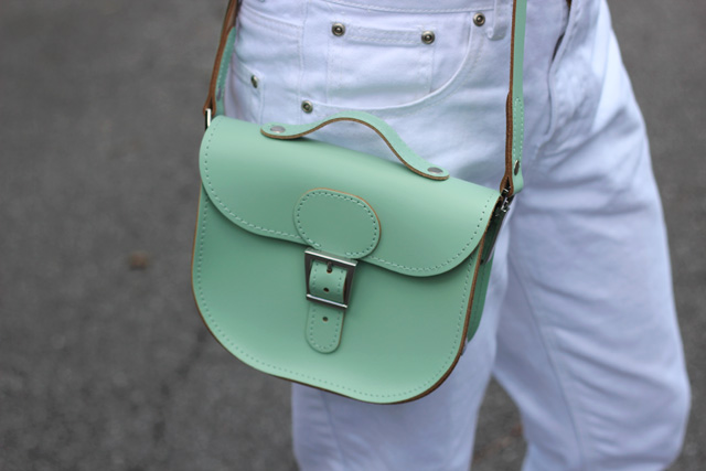 Modcloth Have Style, Will Travel Satchel Bag in Mint Green
