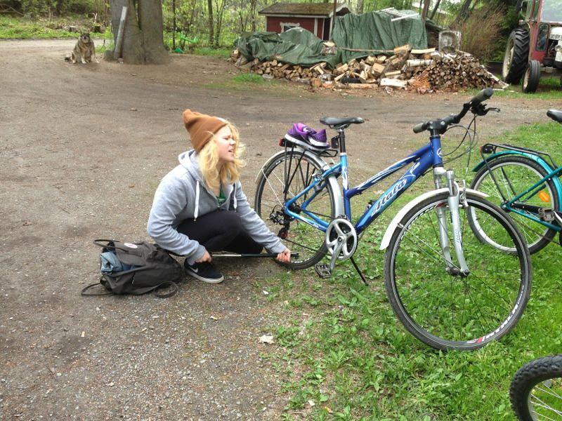pyöräilijän onkelma