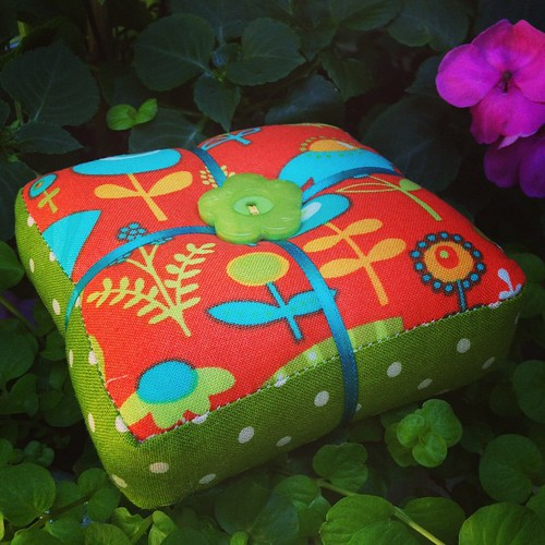 Finished the Park Slope pincushion. Any sewing is better than none.