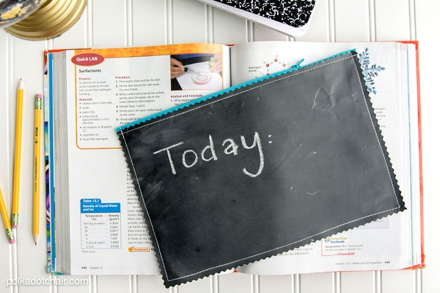 chalkboard fabric pencil pouch