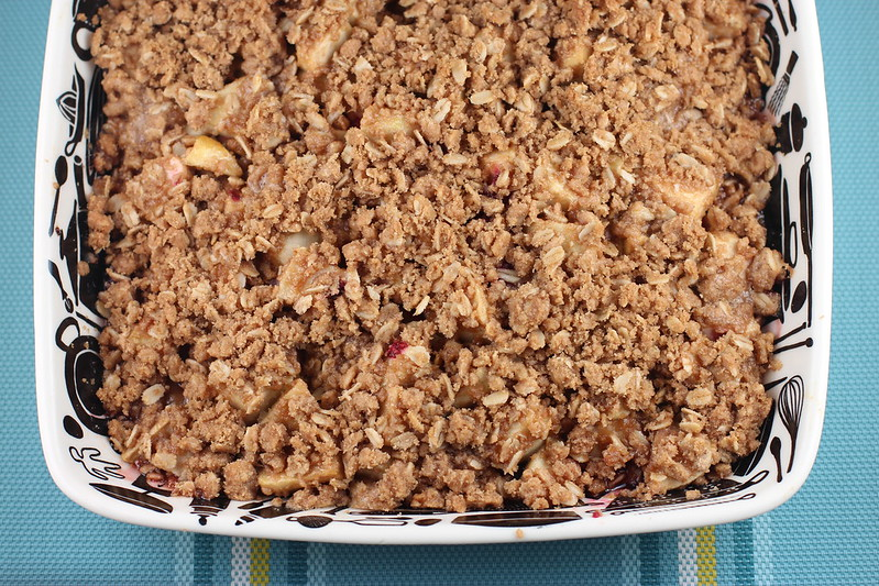 Apple Raspberry Crisp from Bon Appetit