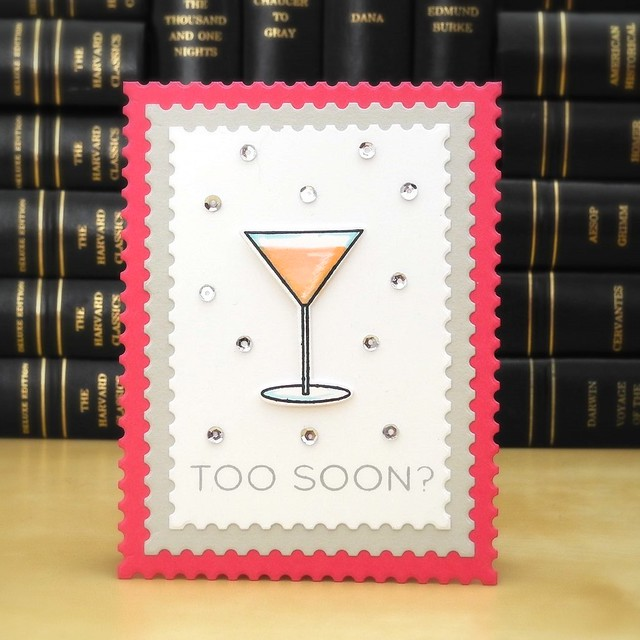 Too Soon? by Jennifer Ingle #JustJingle #SimonSaysStamp #Cards