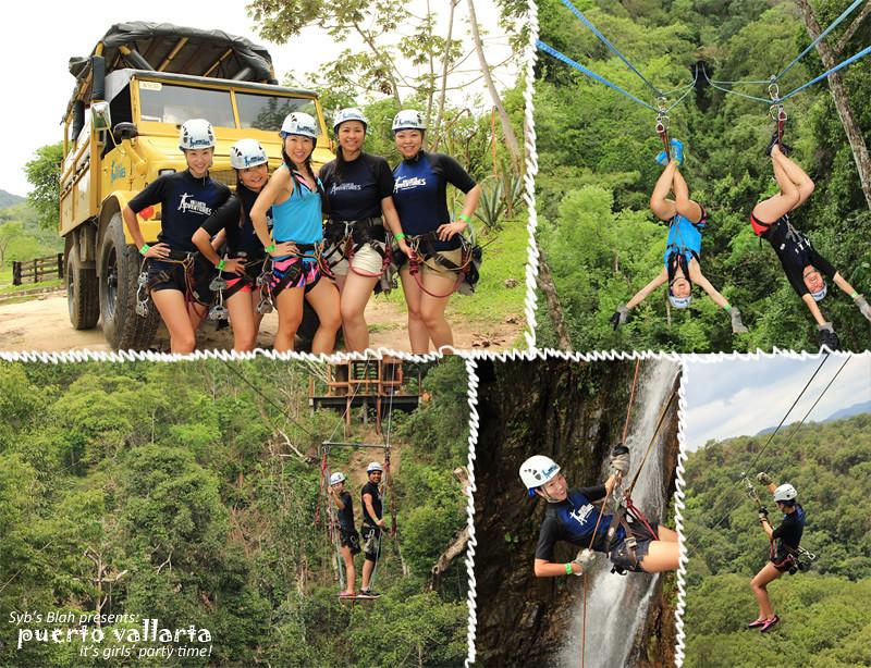 旅行,旅遊,遊記,墨西哥,Puerto Vallarta,巴亞爾塔港,國外旅遊,單身趴,單身派對,bachelorette party,zipline,空中飛人,滑翔之旅,野外冒險,戶外冒險,戶外活動,戶外運動,冒險遊戲