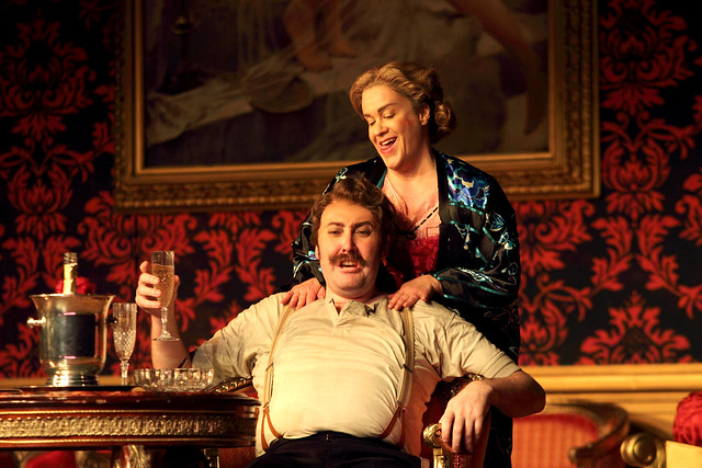 Matthew Rose as Baron Ochs and Alice Coote as Octavian in Der Rosenkavalier, The Royal Opera © 2016 ROH. Photograph by Catherine Ashmore