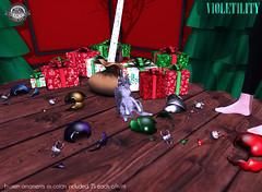 Violetility Broken Ornaments