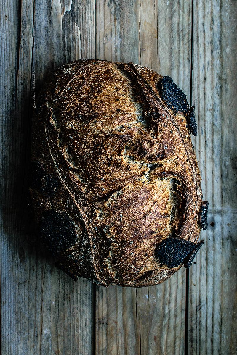Pan de sésamo negro y gomasio