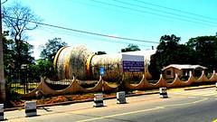 The water tank in Kilinochchi - Sri Lanka- town that was destroyed during war