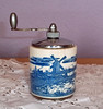Vintage Delft-Style Hand-Painted Blue and White Ceramic Pepper Mill