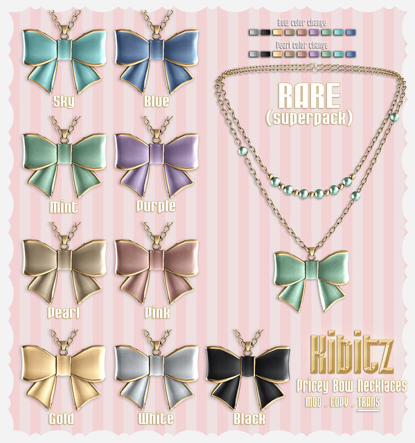 Kibitz pricey bow necklaces