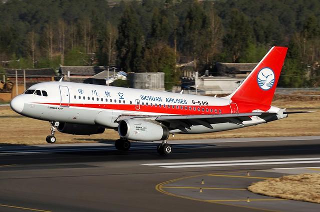 A.319-133 C.n 4660 'B-517L' 'B-6419' Sichuan Airlines